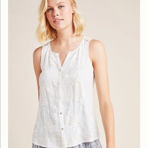 Anthropologie Amarissa Embroidered Lace Blouse